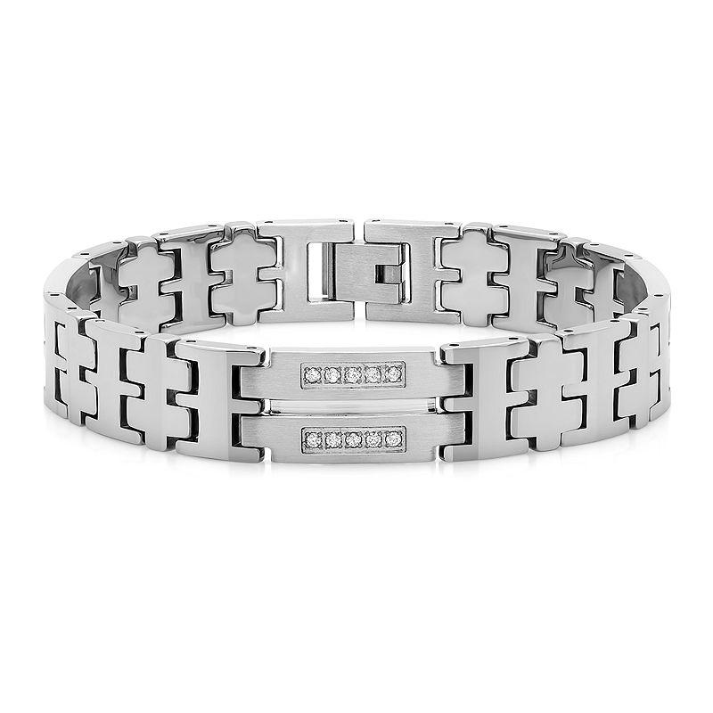 Mens 1/2 CT. T.W. Diamond Tungsten Bracelet