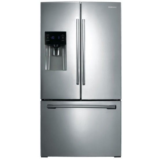 "Samsung ENERGY STAR® 24.6 cu.ft. 36"" Wide 3-French Door Refrigerator with External Ice Maker"