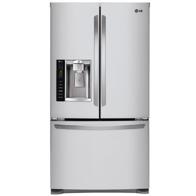LG 24.1 cu. ft. Ultra Large Capacity 3-Door French Door Refrigerator with SpacePlus® Ice System