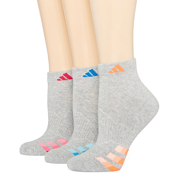 adidas® 3-pk Cushion Low-Cut Socks