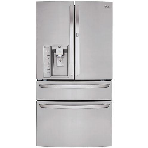 LG ENERGY STAR® 29.7 cu. ft. Super Capacity 4-Door French Door Refrigerator with Door-in-Door® Design and CustomChill™ Drawer
