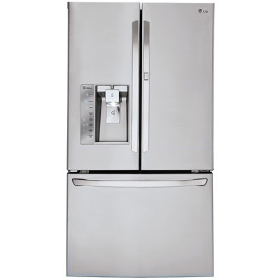 LG ENERGY STAR® 29.6 cu. ft. Smart Wi-Fi Enabled Super Capacity 3-Door French Door Refrigerator with Door-in-Door Design