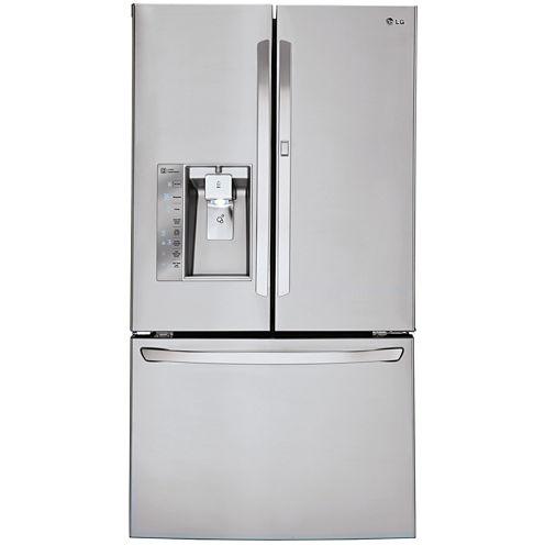 LG ENERGY STAR® 29.6 cu. ft. Super Capacity 3-Door French Door Refrigerator with Door-in-Door Design