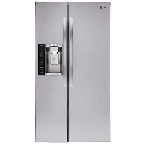 LG 26.2 cu. ft. Side-by-Side Refrigerator with Ice and Water Dispenser