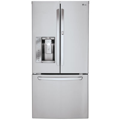 LG ENERGY STAR 242 cu ft 33 Wide French Door Refrigerator with Ice