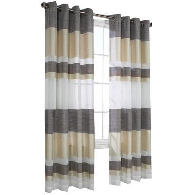 Talia Stripe Grommet-Top Window Panel