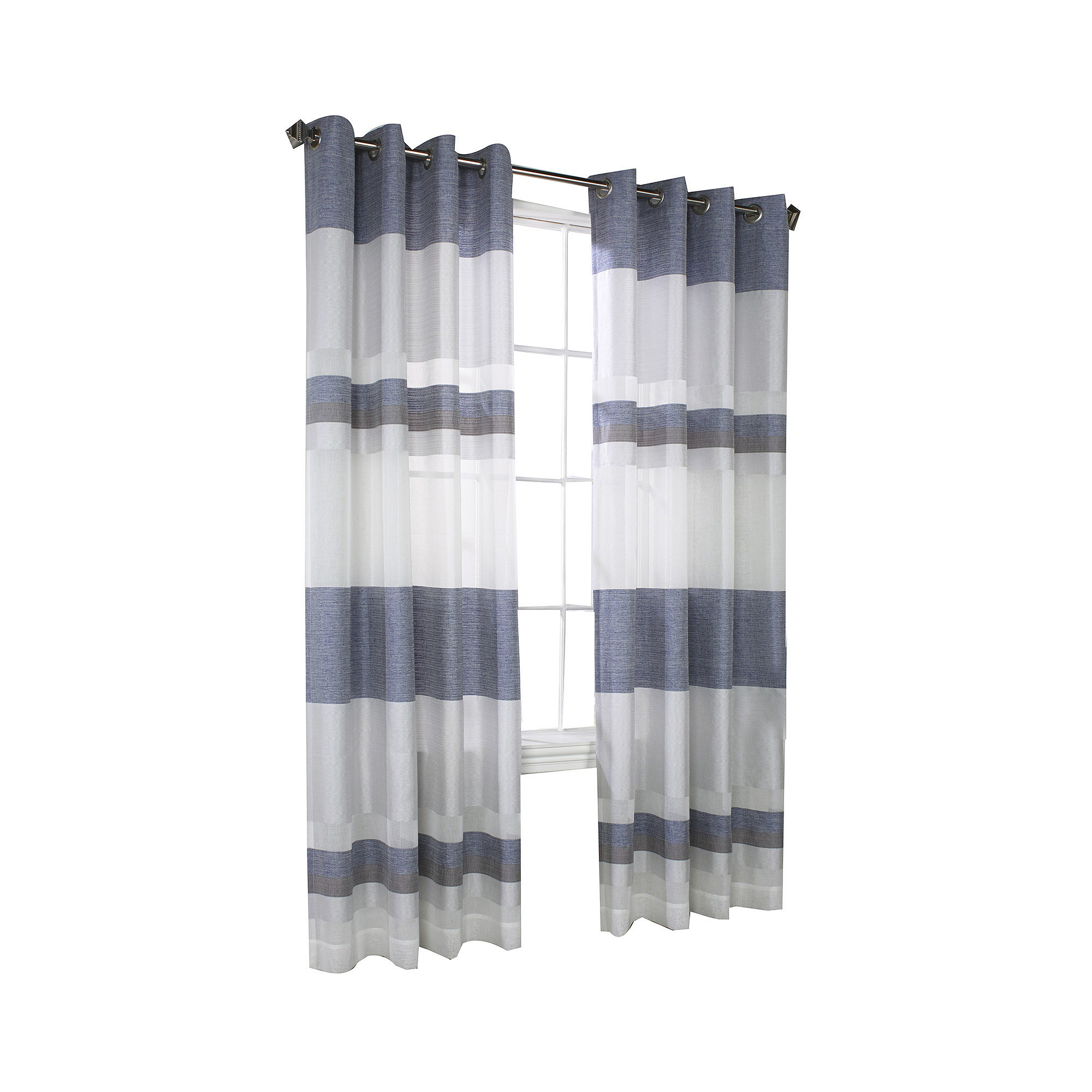 Talia Stripe Grommet-Top Window Panel