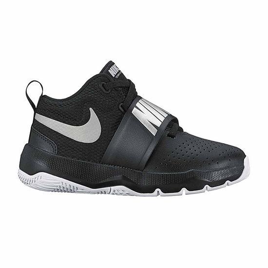 2018 shoes los angeles authentic Nike Team Hustle Boys Basketball Shoes - Little Kids, Color: Black ...
