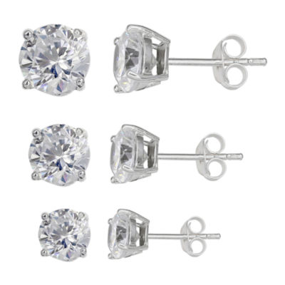 Silver Treasures 3-pc. Earring Sets