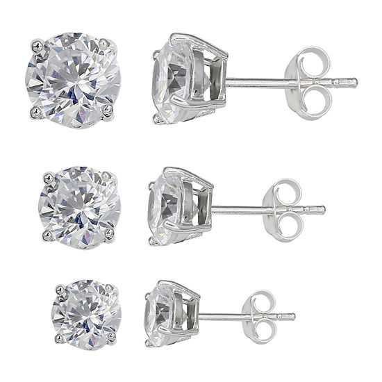 Silver Treasures 3-pc. Earring Set