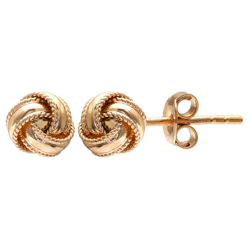Gold Reflection Gold Over Brass Stud Earrings