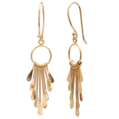 Gold Reflection Drop Earrings