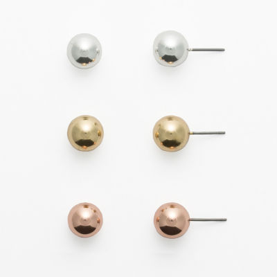 Sensitive Ears 3-pr. Stud Earring Set