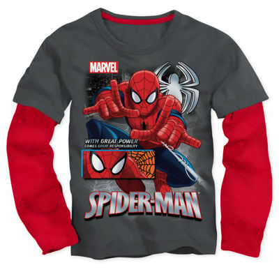 Spiderman T-Shirt with Toy - Preschool Boys 4-7