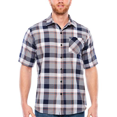 Ecko Unltd Short Sleeve Plaid Button-Front Shirt-Big and Tall
