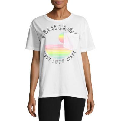 "Flirtitude ""California"" Graphic T-Shirt- Juniors"