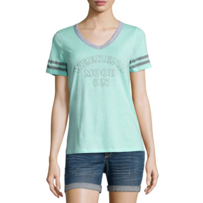 """""""Weekend Mood On"""" Graphic T-Shirt- Juniors"""