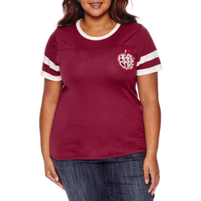 """Arizona """"Hard Core"""" Graphic T-Shirt- Juniors Plus"""