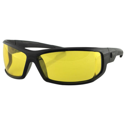 Bobster AXL Sunglasses-Black Frame-Anti-fog YellowLens