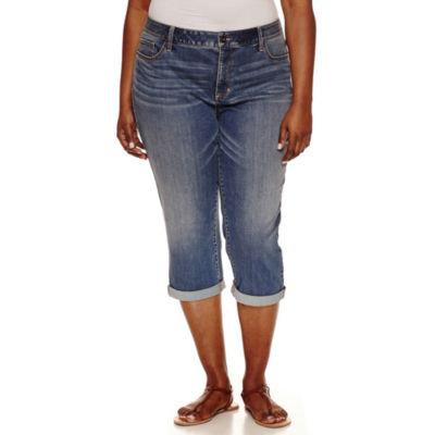 """St. John's Bay Cropped Pants-Plus (23"""")"""