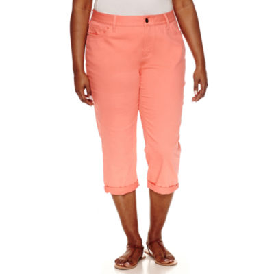 "St. John's Bay Cropped Pants-Plus (23"")"