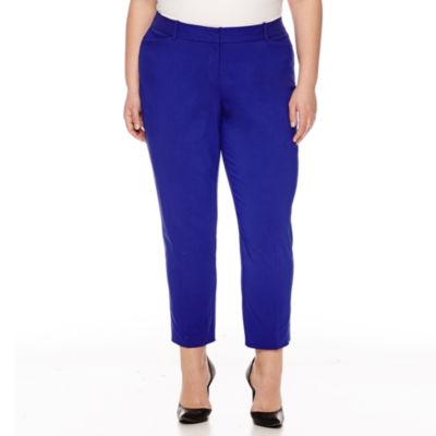 """Worthington® Slim Fit Ankle Pants 27"""" - Plus"""