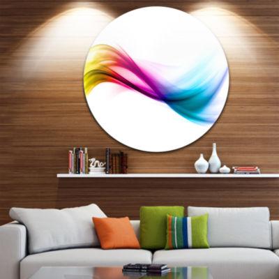Designart Rainbow Abstract Pattern Abstract CircleMetal Wall Art