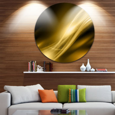 Designart Sparkle Gold Texture Pattern Abstract Circle Metal Wall Art