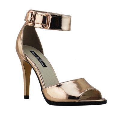 Michael Antonio Womens Hudsen-Met Heeled Sandals