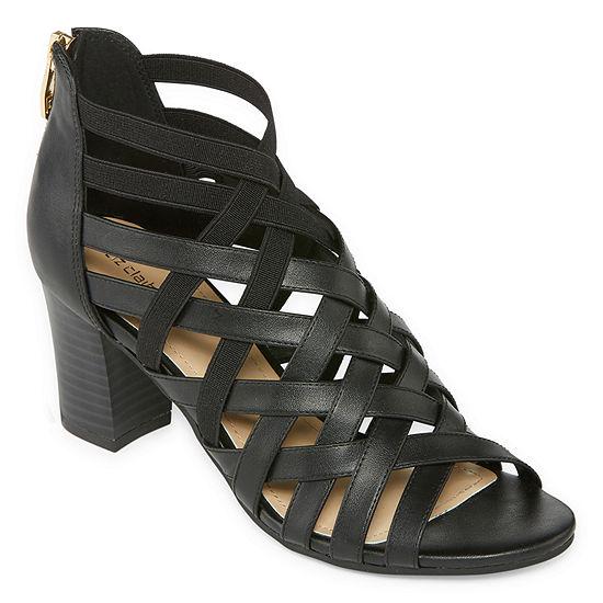 6f13a252060 Liz Claiborne Womens Deidra Heeled Sandals - JCPenney