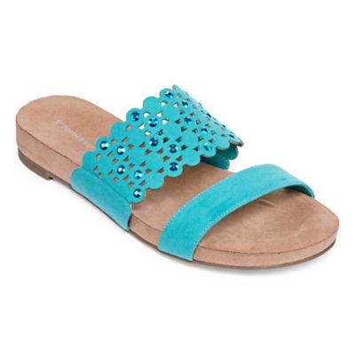 St. John's Bay Womens Suzie Slide Sandals