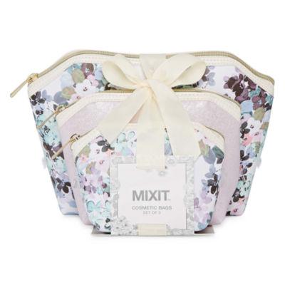 Mixit Floral 3-pc. Makeup Bag