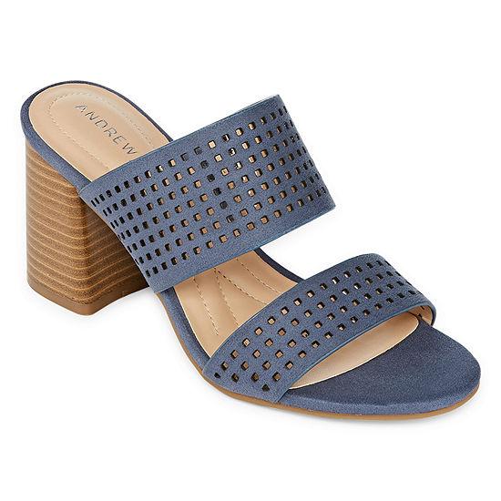 Andrew Geller Womens Eve Heeled Sandals
