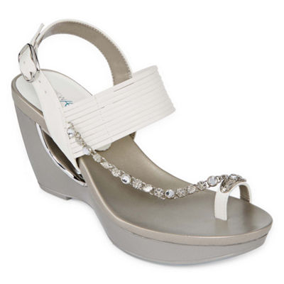 Andrew Geller Womens Arriana Wedge Sandals