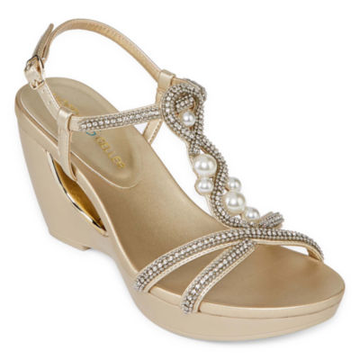 Andrew Geller Womens Allisandra Wedge Sandals
