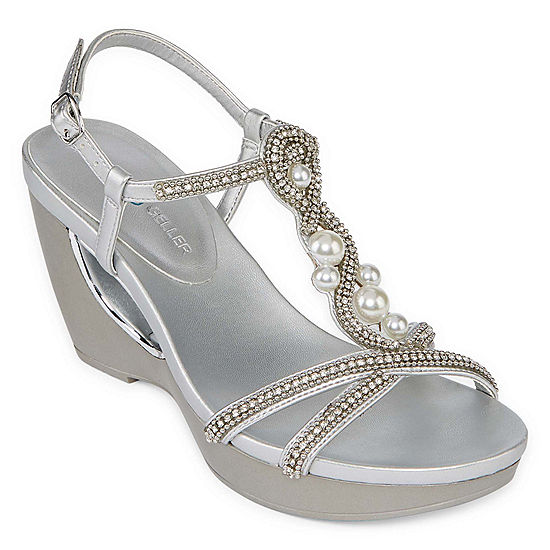 33518e6a8ea0 Andrew Geller Womens Allisandra Wedge Sandals - JCPenney