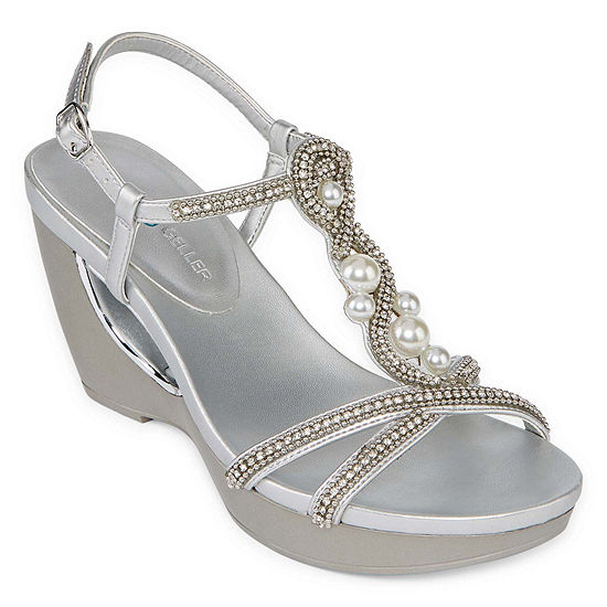 Andrew Geller Womens Allisandra Wedge Sandals