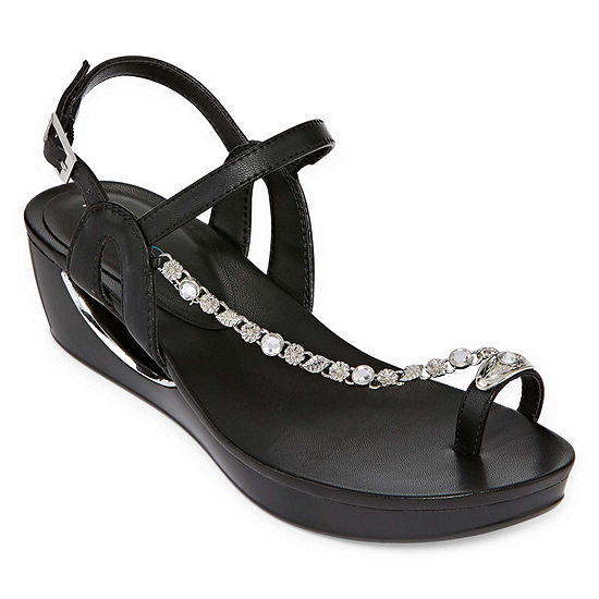 Andrew Geller Womens Casidy Wedge Sandals