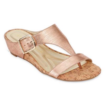 Andrew Geller Iwin Womens Slide Sandals