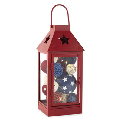 JCPenney Home Americana Filled Decorative Lantern