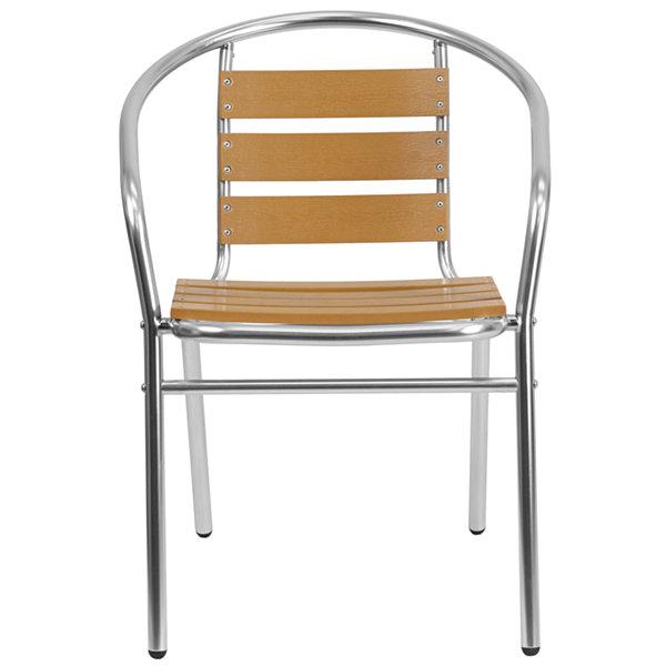 Commercial Aluminum Indoor-Outdoor Restaurant Stack Chair with ...