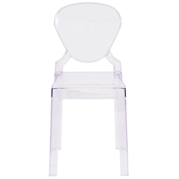 Ghost Chair with Tear Back in Transparent Crystal