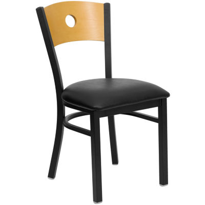 Hercules Series Black Circle Back Metal RestaurantChair