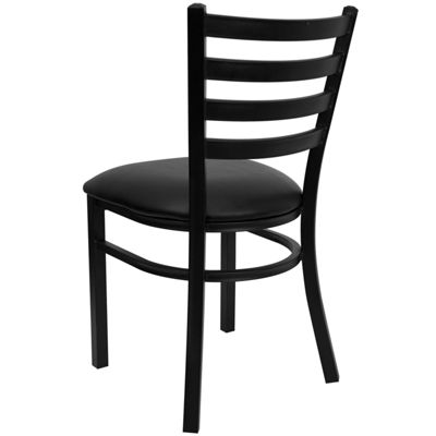 Hercules Series Black Ladder Back Metal RestaurantChair