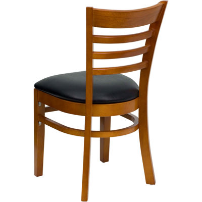 HERCULES Series Finished Ladder Back Wooden Restaurant Chair