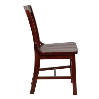 HERCULES Series Finished School House Back Wooden Restaurant Chair