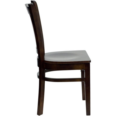 HERCULES Series Finished Vertical Slat Back WoodenRestaurant Chair