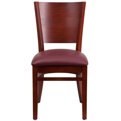Lacey Series Solid Back Wooden Restaurant Chair