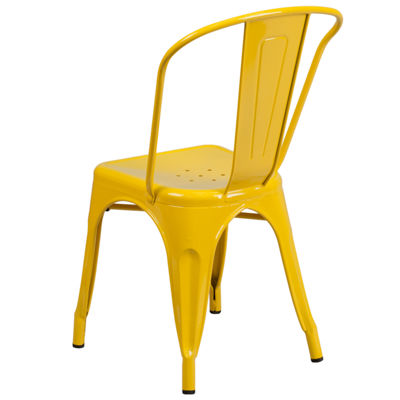 Metal Indoor-Outdoor Stackable Chair