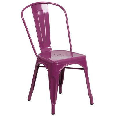 Metal Indoor-Outdoor Stackable Chair II